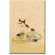 <li>Artist: Unknown</li><li>Title: Japanese Cat Bathing</li><li>Product type: Gallery-wrapped canvas art</li>