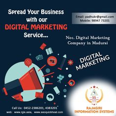 Digital marketing is the marketing of products or services using digital technologies, mainly on the Internet, but also including mobile phones, display advertising, and any other digital medium. use digital marketing for your success...  Best Digital Marketing Company In Madurai  Contact Us!! Mobile- 9894773201 Email : padhukr@gmail.com