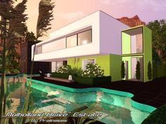 Mulholland Drive by Pralinesims http://www.thesimsresource.com/downloads/1195414