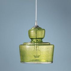 "Jamie Young Lafitte Celadon Glass 10"" Wide Pendant Light 
