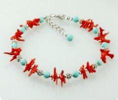 Red Turquoise, Beaded Bracelets, Jewelry, Fashion, Moda, Jewlery, Jewerly, Fashion Styles, Pearl Bracelets