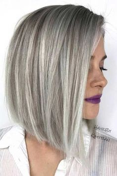70 Fantastic Stacked Bob Haircut Ideas Pretty Stacked Bobs To Impress Silver Color Stacked Bob Hairstyles, Bob Hairstyles For Fine Hair, Long Bob Haircuts, Medium Bob Hairstyles, Hairstyles Haircuts, Stacked Bob Haircuts, Summer Haircuts, Modern Haircuts, Easy Hairstyle