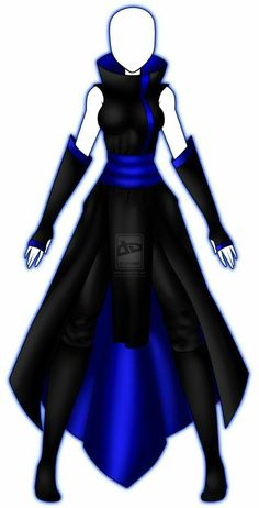 Manga Clothes, Drawing Anime Clothes, Clothing Sketches, Dress Sketches, Fashion Design Drawings, Fashion Sketches, Cosplay Outfits, Anime Outfits, Ninja Outfit