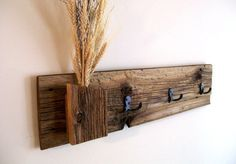 Rustic / Reclaimed / Barn Wood Wall Hung Coat by TheBarnYardShop, $55.00