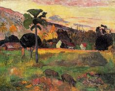 Come here, Oil On Canvas by Paul Gauguin (1848-1903, France)