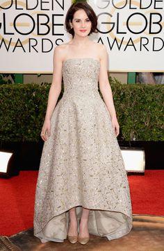 Michelle Dockery Vestidos en los Globos de Oro 2014