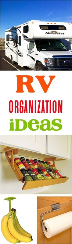 RV Organization!  Top storage ideas for organizing your motorhome and travel trailers! | NeverEndingJourneys.com