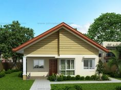 Another concept of three bedroom Bungalow House plan with total floor area of 82 square meters is conceptualized with blue color combinations. Roof is pale blue long span ribbed type pre-painted ga…