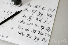 Learn Calligraphy! Even though I like the fake calligraphy just as much ;)