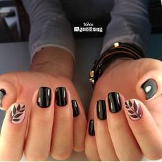 gelnagels of acrylnagels beste outfits - - - gelnagels of acrylnagels beste outfits – Nail Polish ideas 26 Pretty Fall Nail Art Design You Must Try Now – Page 13 of 26 – BEAUTY ZONE X Cute Black Nails, Black Nail Art, Cute Nails, Pretty Nails, Black And Nude Nails, Black Nail Polish, Fall Nail Art Designs, Black Nail Designs, Easy Nails