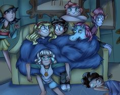 Star and Marco are close together and where's Jackie, on the floor, ha