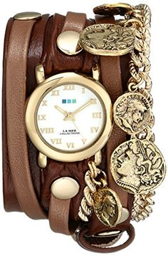Women's Wrist Watches - La Mer Collections Womens LMCW2005 Roman Coins Wrap Watch *** Be sure to check out this awesome product. (This is an Amazon affiliate link)