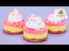 YouTube Mini Cheesecakes, Mini Pies, Cheesecake Pops, Churros, Fudge, Donuts, Frosting, Delicious Desserts, Sweet