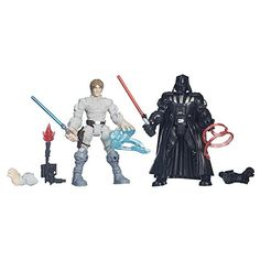 Hasbro – B3829 – Hero Mashers – Star Wars – Luke Skywalker VS Darth Vader – 2 Figurines Personnalisables: Mix and match parts to create…