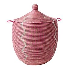 Now on sale for half price:  $74  (I can't remember if you got this one or not)     Senegalese Storage Collection - Pink   Serena & Lily