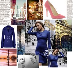 """Bleu Parisien"" by katherineherod ❤ liked on Polyvore"