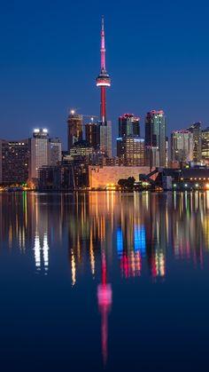 CN Tower and Polson Street Pier, Toronto, Canada Man Made Toronto Cities Canada building city light ontario reflection skyscraper Mobile Wallpaper Toronto Canada, Toronto City, Toronto Cn Tower, Backpacking Canada, Canada Travel, Torre Cn, 1440x2560 Wallpaper, Wallpaper Toronto, Wallpaper Canada
