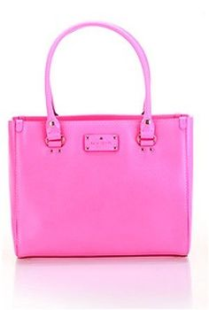 Kate Spade Wellesley Quinn Bag Purse Tote Neon Pink:Amazon:Clothing