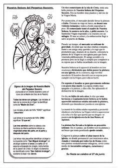 La Catequesis: Recursos Catequesis Nuestra Señora del Perpetuo Socorro: 27 de Junio