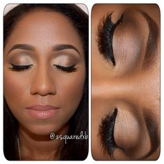 Makeup tutorial dark skin awesome ideas Make-up Tutorial dunkle Haut fantastische Idee Neutral Eye Makeup, Cat Eye Makeup, Dark Skin Makeup, Eyeshadow Makeup, Eyeshadow Ideas, Soft Makeup, Makeup Case, Simple Makeup, Black Girl Makeup