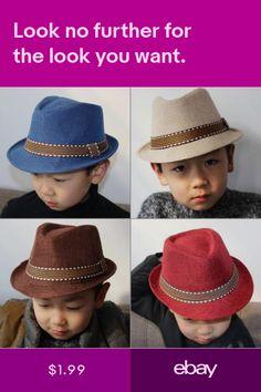 a5241a4bd27 Kids Baby Boys Children Straw Gentleman Trilby Panama Jazz Hat Retro Summer  Cap