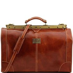 Tuscany Leather - Madrid - Gladstone Leather Bag - Large size Brown - TL1022/1: Amazon.co.uk: Shoes & Bags
