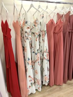 so many hues waiting for you 🌹 schedule your appointments at our NYC + Chicago showrooms! Bridal Party Dresses, Bridal Gowns, Wedding Gowns, Chic Wedding, Summer Wedding, Beautiful Bridesmaid Dresses, Bridal Musings, Wedding Dress Shopping, Brides And Bridesmaids