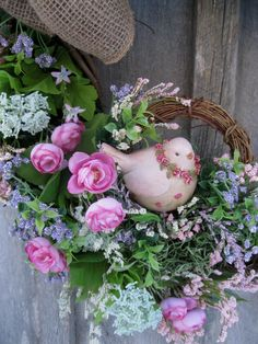 Summer Wreath Country French Cottage Chic by NewEnglandWreath