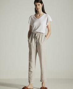 Basic linen trousers - 0
