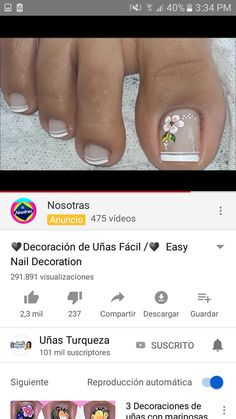 Pedicures, Manicure And Pedicure, Baby Messages, Gel Nail Designs, Toe Nails, Nail Art, Toenails, Designed Nails, Work Nails