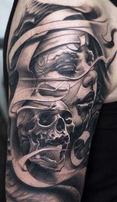 Tattoo Artist - Victor Portugal - skull tattoo | www.worldtattoogallery.com