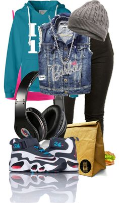 """""""School Day((:"""" by obeymy-swagg ❤ liked on Polyvore"""