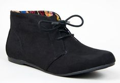 Qupid SHUFFLE-01 Designer/'TOMS Inspired' Lace Up Flat Desert Boot Ankle Bootie, Black Suede PU, 8.5 ZooShoo,http://www.amazon.com/dp/B00B2POXKU/ref=cm_sw_r_pi_dp_e6rNsb1A22RBHWAK