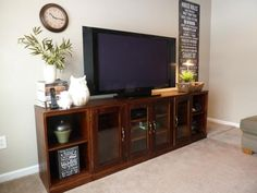 Pottery Barn Printer's Long Low Media Suite | Do It Yourself Home Projects from Ana White