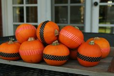 Easy to do with tape! Halloween centerpiece