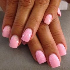 Kerstin Lindh pink nr 13 with pink glitter #gel #glitter #gelnails #glitternails #nails #nopolish #hand #Padgram