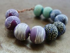 Color Collection Tiny Disk Beads  Moody Blues Set by humblebeads, $25.00