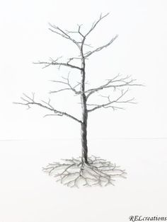 Silver Wire Tree Sculpture by RELcreations on Etsy, $30.00