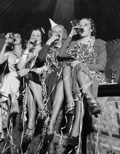 Young women celebrate the end of prohibition- Prohibition era drink recipes