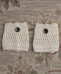 Look at this #zulilyfind! Ivory Crochet Boot Cuffs #zulilyfinds