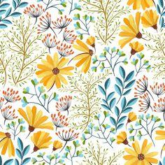 Fond d'écran amovible Floral coloré (fr) Fond d'écran, Peel and Stick Wallpaper, Wall mural, Removable Wallpaper, Self adhesive wallpaper