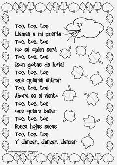 Aula virtual de audición y lenguaje: Poemas de otoño Dual Language Classroom, Bilingual Classroom, Bilingual Education, Spanish Classroom, Preschool Poems, Kindergarten Songs, Rhyming Activities, Simple Poems, Prek Literacy