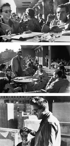 James Dean, Roy Schatt and friends on the roof of the Museum of Modern Art ( MoMA) in1954