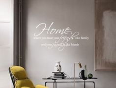 Family Quote Wall Sticker | Friends Wall Sticker