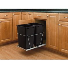 Buy the Rev-A-Shelf S Black Direct. Shop for the Rev-A-Shelf S Black RV Series Bottom Mount Double Bin Trash Can with Full Extension Slides - 35 Quart Capacity per Bin and save. Kitchen Drawer Organization, Storage Cabinets, Kitchen Storage, Corner Cabinets, Base Cabinets, Organization Ideas, Storage Ideas, Trash Containers, Trash Bins
