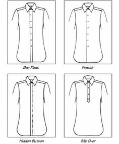 Custom Tailored Dress Shirt Front Style