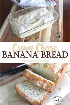 This Cream Cheese Banana Recipe makes a moist, melt in your mouth sweet bread that is sure to become your family's favorite recipe. The secret is mixed IN the bread. Add a thin layer of sugar for a sweet, crunchy crust.
