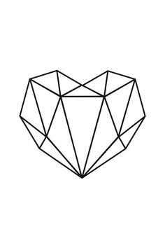 Geometrisches Herz-Plakat-Druck-minimalistisches Herz - #geometrisches #Herz #HerzPlakatDruckminimalistisches #minimaliste