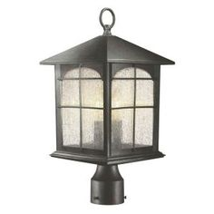 If we keep/modify the light post I want this --- 3-Light Outdoor Post Lamp-Y37031-151 at The Home Depot