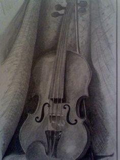 Violin in pencil